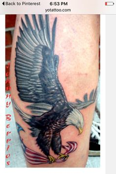 045f0adcbed31 Eagle Tattoos, Leg Tattoos, Body Art Tattoos, Tattoos For Guys, Cool Tattoos