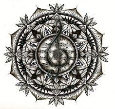 Music mandala by PaHralova.deviantart.com on @DeviantArt