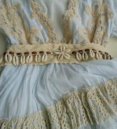 cinturón conchas flor1
