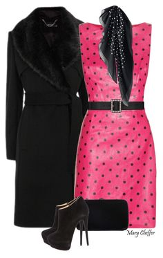 """""""Dot, Dot, Dot: Fuchsia"""" by mcheffer ❤ liked on Polyvore featuring Yves Saint Laurent, Sergio Rossi, Giuseppe Zanotti, Uniqlo, women's clothing, women, female, woman, misses and juniors"""
