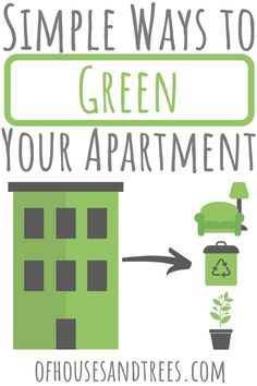 Greening an apartment isn't all that different from greening a house. Check out these eco-friendly apartment ideas that are simple, affordable - and fun! Green Apartment, Apartment Ideas, Sustainable Design, Sustainable Living, Cleaning Crew, Self Watering Planter, Eco Friendly House, Growing Up, How To Look Better