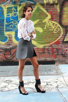 cool skirt Leandra. NYC. #LeandraMedine #ManRepeller