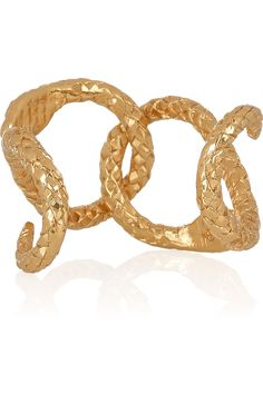 ysl gold serpent cuff...why do LOVE serpent jewelry and python bags when I am scared to death of snakes??