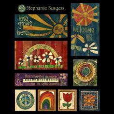 Licensing - Painted Peace - Wood Art of Stephanie Joan Burgess Peace Pole, Wood Block Crafts, Garden Poles, Pole Art, Garden Deco, Gifts For An Artist, Garden Ornaments, Community Art, Yard Art