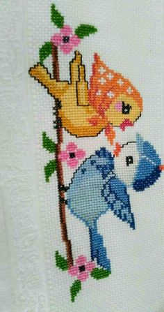 Cross Stitch Fabric, Cross Stitch Bird, Simple Cross Stitch, Cross Stitch Borders, Cross Stitch Alphabet, Cross Stitch Animals, Cross Stitch Flowers, Cross Stitch Designs, Cross Stitching