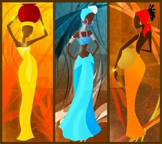 30 New Dancing Women Painting African Beauty, African Women, Woman Painting, Painting & Drawing, Costume Africain, African Paintings, Renaissance Artists, Cult, Africa Art