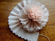 crepe paper flower DIY