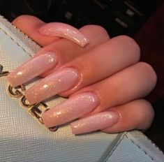 A manicure is a cosmetic elegance therapy for the finger nails and hands. A manicure could deal with just the Aycrlic Nails, Dope Nails, Glitter Nails, Hair And Nails, Pink Nails, Matte Nails, Coffin Nails, Nails 2016, Nail Nail
