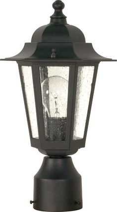 Nuvo Cornerstone - 1 Light - 14 inch - Post Lantern - w/ Clear Seed Glass