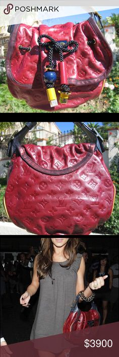 ✨NEW✨LOUIS VUITTON RARE RUNWAY Leather Handbag % AUTHENTIC NEW WITH TAG Limited Edition Runway LOUIS VUITTON Leather Handbag Purse Hobo. Just about impossible to find this exact bag in brand new condition. NEVER USED. The only natural imperfection is minor hardware tarnish. STUNNING DETAILS TRADE VALUE: $4,500. Louis Vuitton Bags Baby Bags