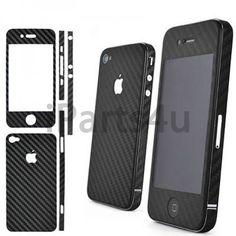 iPhone 4 und 4S Carbon Skin Schwarz iPad Zubehör, iPhone Zubehör und iPod Zubehör || Gut und Billig