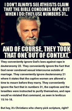 Atheists re: rape in the Bible read the rest of the damn book dumbass Christian Warrior, Christian Faith, Christian Quotes, John 3 16, Christian Apologetics, Bible Truth, Christen, Atheist, Bible Scriptures