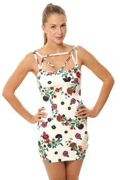 Summertime Body Con Dress - Ivory