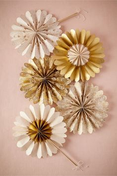Celebration Crinkle Fans in gold from BHLDN
