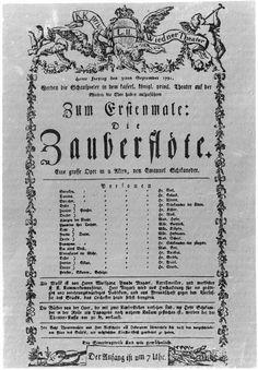 Zum ersten Male: Die Zauberflöte, Theater an der Wien 1791