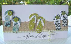 cute handmade beach card by Wahine Inks ... used die from Paper Trey Ink to make…