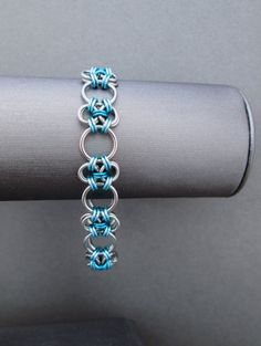 Chainmaille Bracelet Stainless Steel Jewelry by BlackCatLinks