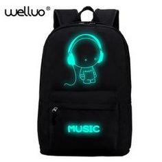 WELLVO Night light cool Canvas Backpacks