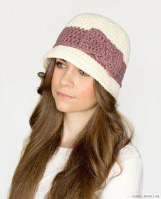 Downton Abbey Inspired Cloche Hat Crochet Pattern!                                                                                                                                                                                 More
