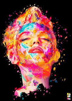 Marilyn Monroe - Kaleidoscopic Celebrity Portraits by Alessandro Pautasso