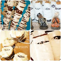 #Halloween Mummy Treat Party Ideas via Amy Huntley (The Idea Room)
