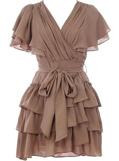 Cappuccino Cascade Dress - this could hide certain areas of your body if you need it to.