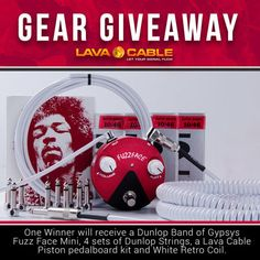 Musicians - Win a Dunlop Band of Gypsys Fuzz Face Mini Dunlop... sweepstakes IFTTT reddit giveaways freebies contests
