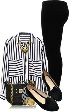 Inspiration for legging pants, big shirt flats or boots for work