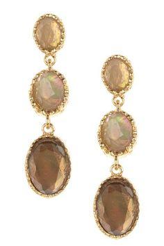 Claudia Earrings ... beautiful bezel set earrings