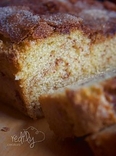 The Amazing Amish Cinnamon Bread~no starter required but it's just as moist and delicious as the original. This quick bread is always a hit!