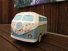 Celine decorates her bus with bling on the side and a medallion in the front really stands out!  The colors are great and the butterflies are so pretty!  You can find this in SURF SHACK SVG KIT!  Awesome!