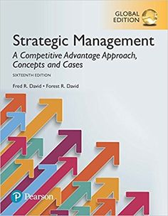 Strategic Management: A Competitive Advantage Approach, Concepts and Cases, Global Edition: Amazon.co.uk: Fred R. David, Forest R. David: 9781292148496: Books  includes Comprehensive Strategy Analysis Framework