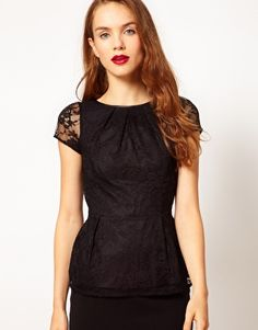 a wear peplum top from asos - $70.36