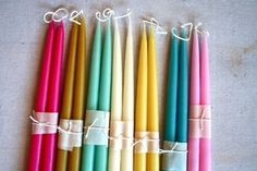 Beautiful handmade beeswax candles