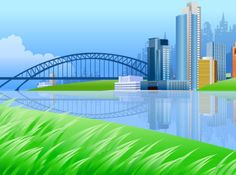 BEAUTIFUL CITY SCENERY VECTOR background