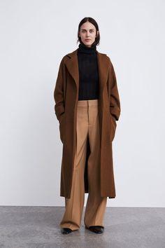 Zara mantel mit gurtel