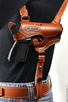 Discover recipes, home ideas, style inspiration and other ideas to try. Leather Concealed Carry Holsters, Custom Leather Holsters, Vertical Shoulder Holster, Cowboy Holsters, Kydex Holster, Leather Apron, Revolver, Leather Projects, Leather Accessories