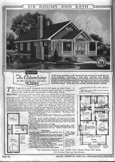 Bungalows  Modern homes and Living spaces on PinterestBungalow Floor Plans   Sears   Modern Home No    The Columbine