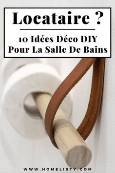 An elegant and simple to make wall support to store and tidy up the rolls of toilet paper in the bathroom # deco # decoration # ideas