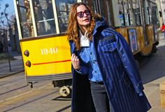 Street Style: Milan Fashion Week Fall 2014 - Vogue.Ece Sukan.Umit Benan coat Photographed by Phil Oh