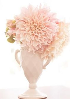 All pink pastel with a lovely shaped vase. .