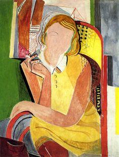 Inge III with cigarette and pipe chair by Oskar Moll - 1930 Art Gallery, Art Painting, Wall Art Prints, Fine Art, Degenerate Art, Flower Prints Art, Painting, Illustration Art, Figurative Art