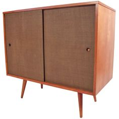 Paul McCobb Small Grasscloth Cabinet 1950's | 1stdibs.com