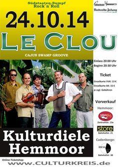 Lieber Musikfan, der Vorverkauf für das Konzert von Le Clou am 24.10.2014 endet am 23.10.2014. Da schon viele Ticket´s vergriffen sind, sichere Dir Dein Ticket am besten noch im Vorverkauf!