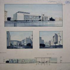 đồ án vẽ tay sv kiến trúc Nga