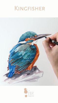 Watercolor Paintings For Beginners, Watercolor Art Lessons, Watercolor Animals, Watercolor Techniques, Abstract Watercolor, Watercolor Illustration, Watercolour Painting, Tattoo Watercolor, Painting & Drawing