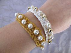 Tuto bracelet crocheté avec des perles - Le blog de Pétronille