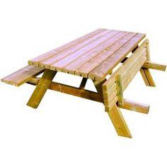 Mesa picnic c/bancos 180x70x76 abatible