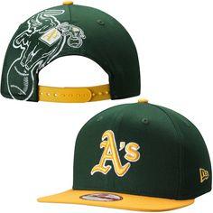 Oakland Athletics New Era MLB Jumbo Logo 9FIFTY Adjustable Hat – Green - $29.99