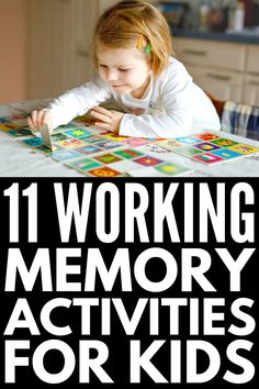 18 working memory games and strategies designed to develop a child's memory, planning, and organization skills in a fun and effective way! Learning Tips, Kids Learning, Memory Games For Kids, Activities For Kids, Activity Ideas, Preschool Special Education, Gifted Education, Childhood Education, Glenn Doman